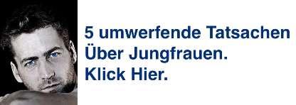 Sternzeichen Jungfrau Mann